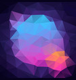 polygon square background neon blue purple pink vector image vector image