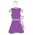 purple dress on hanger vector image vector image