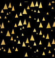 scattered gold foil triangles black pattern vector image vector image