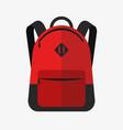 school bag backpack vector image vector image