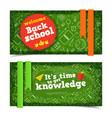 school horizontal banners vector image vector image
