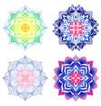 set bright decorative mandalas for design vector image vector image