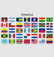 set flags american countries all america flag vector image vector image