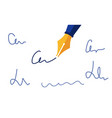 set personal signature written with a fountain pen vector image