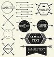 set vintage styled design hipster logo vector image vector image