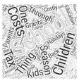 SM saving money on school expenses of kids Word vector image vector image