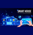 smart house remote control cartoon concept vector image