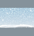 snow falling in winter christmas background vector image vector image