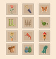 spring gardening icons vector image vector image
