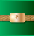 st patricks day background leather belt with gold vector image