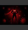 superhero as antibody against viruses