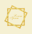 template for the design shiny frame with gold vector image vector image