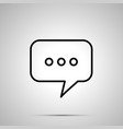 texting chat message bubble simple icon vector image