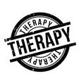 therapy rubber stamp vector image
