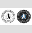 united states space force logo vector image vector image