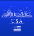usa travel landmarks vector image vector image