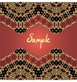 Vintage ethnic horizontal seamless banner in brown vector image