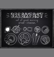 vintage poster breakfast roissant and coffee vector image