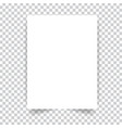 white realistic paper page vector image