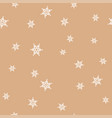 white snowflakes on a flesh color background vector image