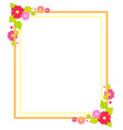 frame with flowers summer or spring season concept vector image