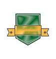 shield sport ribbon emblem decoration image vector image