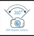360 degree camera icon vector image