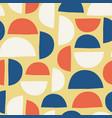abstract art deco semicircles seamless vector image vector image