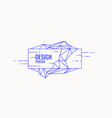 abstract polygonal objects in the background low vector image vector image