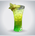 abstract polygonal tirangle cocktail absinthe vector image vector image