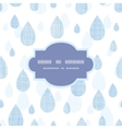 Abstract textile blue rain drops seamless frame vector image vector image