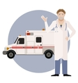 Ambulance and a Doctor2 vector image