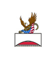 american eagle clutching towing j hook flag retro vector image vector image