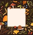 autumn frame flat border vector image vector image