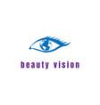 beauty woman female girl eye world globe earth vector image vector image