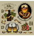 Beer designs vector image vector image