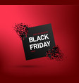 black friday sale banner with explosion discount vector image