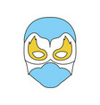 blue silhouette with face of man superhero masked vector image