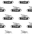 camping knife symbols seamless pattern silhouette vector image vector image