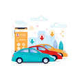 carsharing flat poster layout automobile rent vector image vector image