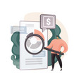 cash flow statement abstract concept vector image vector image