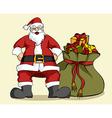 Christmas series Santa Claus and gifts bag vector image
