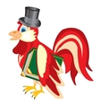 Cock in hat with book vector image vector image