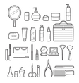 Cosmetics And Beauty Icons Set Monochrome vector image vector image