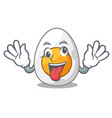 crazy freshly boiled egg isolated on mascot vector image vector image
