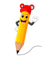 cute pencil cartoon vector image vector image
