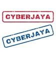 Cyberjaya Rubber Stamps vector image vector image