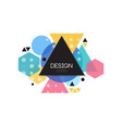 design logo template minimalist element vector image