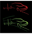 EKG of auto vector image vector image