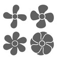 fan icon design on white background graphic vector image vector image